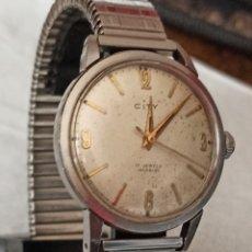 Relojes de pulsera: RELOJ SWSS CYTY 17 RUBIS INCABLO FUNCIONA MUY BIEN CARGA MANUAL. Lote 287093238