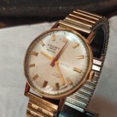 Relojes de pulsera: RELOJ SWSS CAUNY ROYAL 2000 17 RUBIS CHAPADO 10 MICRAS ORO FUNCIONA MUY BIEN. Lote 287205683