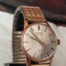 Relojes de pulsera: RELOJ SWSS TANUS 17 JEWES ANCRE CHAPADO 10 MICRAS ORO FUNCIONA BIEN. Lote 287212148