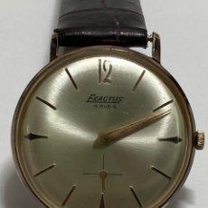 Montres-bracelets: RELOJ EXACTUS CARGA MANUAL CAJA CHAPADA ORO EN FUNCIONAMIENTO. Lote 287326823