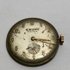 Relojes de pulsera: MAQUINARIA CAUNY PRIMA 320 PARA ARREGLAR O PIEZAS. Lote 287924643