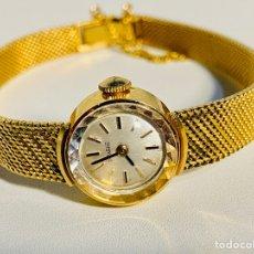 Relojes de pulsera: RELOJ PULSERA MUJER DUWARD VINTAGE ORO 18KTS CON PULSERA DE MALLA MILANESA. Lote 288220113