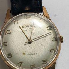 Relojes de pulsera: RELOJ DOGMA PRIMA CARGA MANUAL Y CAJA CHAPADA ORO 17 RUBIS EN FUNCIONAMIENTO. Lote 288476968