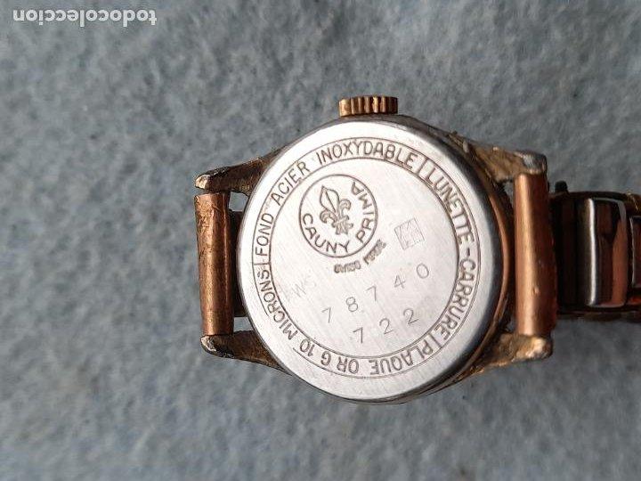 Relojes de pulsera: Reloj marca Cauny. Clásico de dama. Swiss made - Foto 6 - 289669858