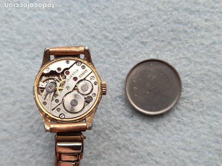 Relojes de pulsera: Reloj marca Cauny. Clásico de dama. Swiss made - Foto 7 - 289669858
