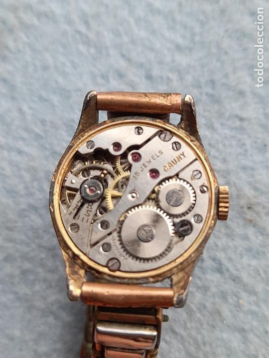Relojes de pulsera: Reloj marca Cauny. Clásico de dama. Swiss made - Foto 9 - 289669858