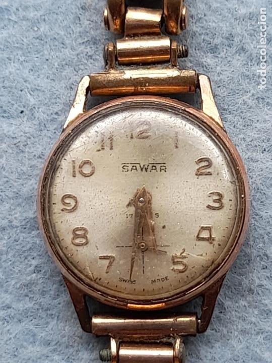 Relojes de pulsera: Reloj marca Sawar. Clásico de dama. Swiss made - Foto 3 - 289670238