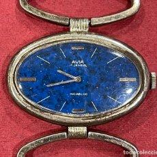 Relojes de pulsera: RELOJ DE PULSERA, VINTAGE, EN PLATA DE LEY, AVIA. TAMAÑO GRANDE.. Lote 290226273
