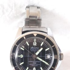 Relógios de pulso: SICURA SUBMARINE 200 METROS AÑOS 70 FUNCIONA, CALENDARIO, CORREA ACERO. MED. 40 MM. Lote 293217403