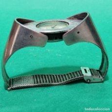 Relojes de pulsera: RELOJ DISEÑO EN PLATA AÑOS 1960-70 MARCA VOGA AUTOMATIC SELLOS VER FOTOS. Lote 294033878