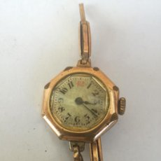 Relojes de pulsera: ANTIGUO RELOJ VINTAGE DE MUJER ESFERA OCTOGONAL - METAL PLAQUE OR GARANTI 5 ANS K&L - NO FUNCIONA. Lote 295381953