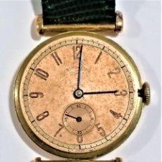 Relojes de pulsera: RELOJ PULSERA CABALLERO - DIWEN CUERDA 17 J. - DIAMETRO 31,50 MM - ALTO 7,60 MM - CAJA DE ORO 18 KT. Lote 295513228