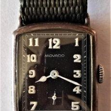 Relojes de pulsera: RELOJ PULSERA CABALLERO - MOVADO - MOVIMIENTO MOVADO 150MN 15 RUBIES - CAJA RECTANGULAR 25 X 32 MM. Lote 295513808