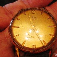 Relojes de pulsera: INTERESANTE RELOJ RADIANT DE 34 MM FUNCIONANDO SIN PARARSE TODA SU CUERDA CHAPADO ORO. Lote 295785743