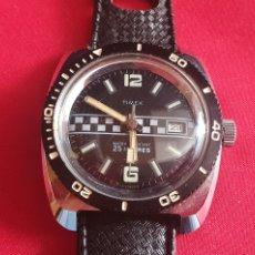 Relojes de pulsera: RELOJ TIMEX WATER RESISTANT 25 METRES FUNCIONA .MIDE 35.7 MM DIAMETRO. Lote 295788123