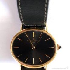 Relojes - Baume & Mercier: BAUME & MERCIER GENEVE ORO 18K ELEGANTE RELOJ OVAL DE DISEÑO ANTIGUO CABALLERO PULSERA 100% ORIGINAL. Lote 60582179