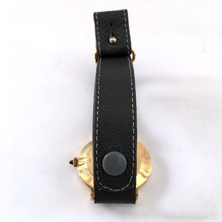 Relojes - Baume & Mercier: BAUME & MERCIER GENEVE ORO 18K ELEGANTE RELOJ OVAL DE DISEÑO ANTIGUO CABALLERO PULSERA 100% ORIGINAL - Foto 2 - 60582179