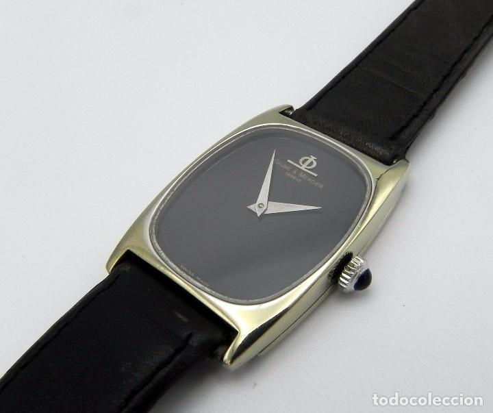 RELOJ BAUME & MERCIER CAJA EN ORO 17 JEWELS GOLD BLACK DIAL WRIST WATCH C. 1980S (Relojes - Relojes Actuales - Baume & Mercier)