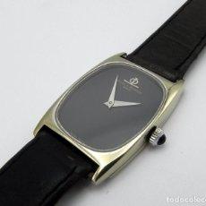 Relojes - Baume & Mercier: RELOJ BAUME & MERCIER CAJA EN ORO 17 JEWELS GOLD BLACK DIAL WRIST WATCH C. 1980S. Lote 95742211