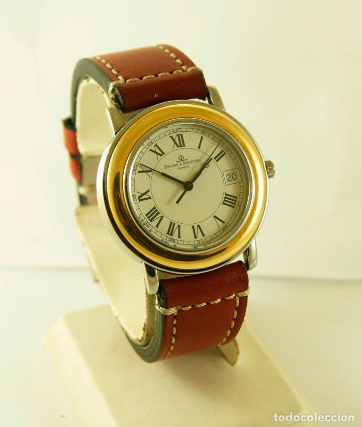 BAUME & MERCIER FLEETWOOD ACERO Y ORO MEN'S DRESS WATCH 5137.018 FUNCIONANDO (Relojes - Relojes Actuales - Baume & Mercier)