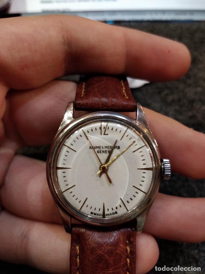 Relojes - Baume & Mercier: Reloj pulsera Baume & Mercier GENEVE. Esfera blanca y acero. - Foto 2 - 155878014