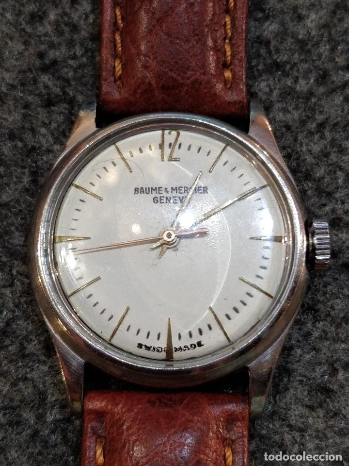 Relojes - Baume & Mercier: Reloj pulsera Baume & Mercier GENEVE. Esfera blanca y acero. - Foto 3 - 155878014