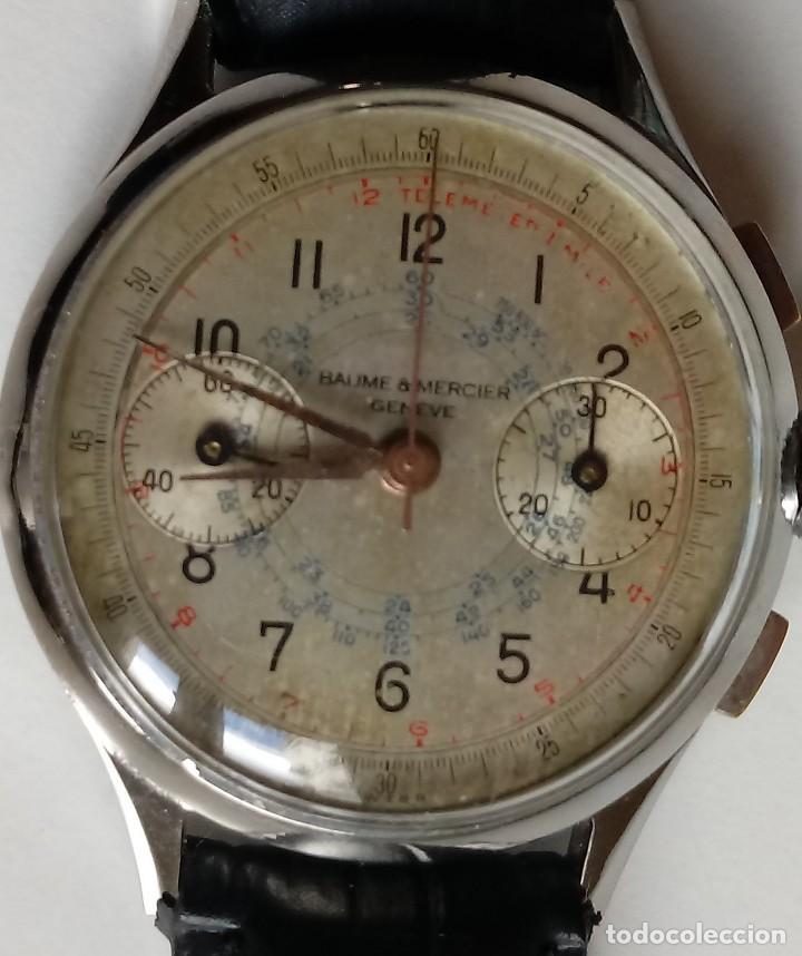 RELOJ BAUME MERCIER CRONOGRAFO AÑOS 50. (Relojes - Relojes Actuales - Baume & Mercier)