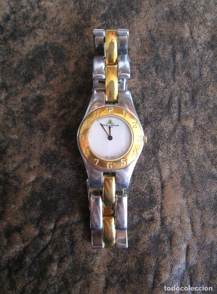 RELOJ BAUME & MERCIER MUJER AÑOS 90 FUNCIONA GENEVE CHAPADO ORO (Relojes - Relojes Actuales - Baume & Mercier)
