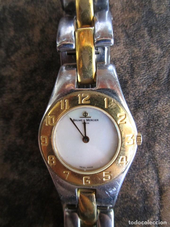 Relojes - Baume & Mercier: reloj Baume & Mercier mujer años 90 funciona geneve chapado oro - Foto 2 - 182197045