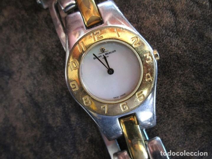 Relojes - Baume & Mercier: reloj Baume & Mercier mujer años 90 funciona geneve chapado oro - Foto 9 - 182197045
