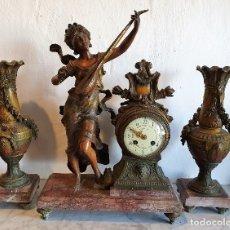 Relojes - Baume & Mercier: ANTIGUO RELOJ DE BRONCE CON GUARNICION. Lote 182714288
