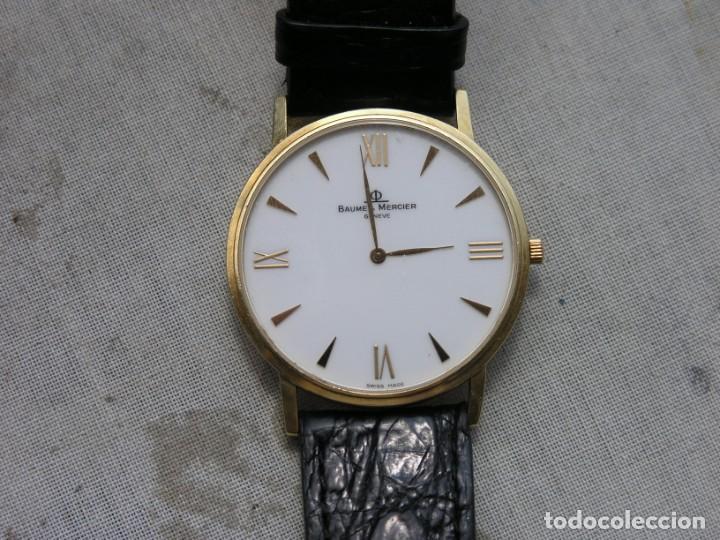 RELOJ BAUME & MERCIER (SUIZA) - COL. CLASSIMA - ORO 18 K - (VER DETALLES EN DESCRIPCIÓN) (Relojes - Relojes Actuales - Baume & Mercier)