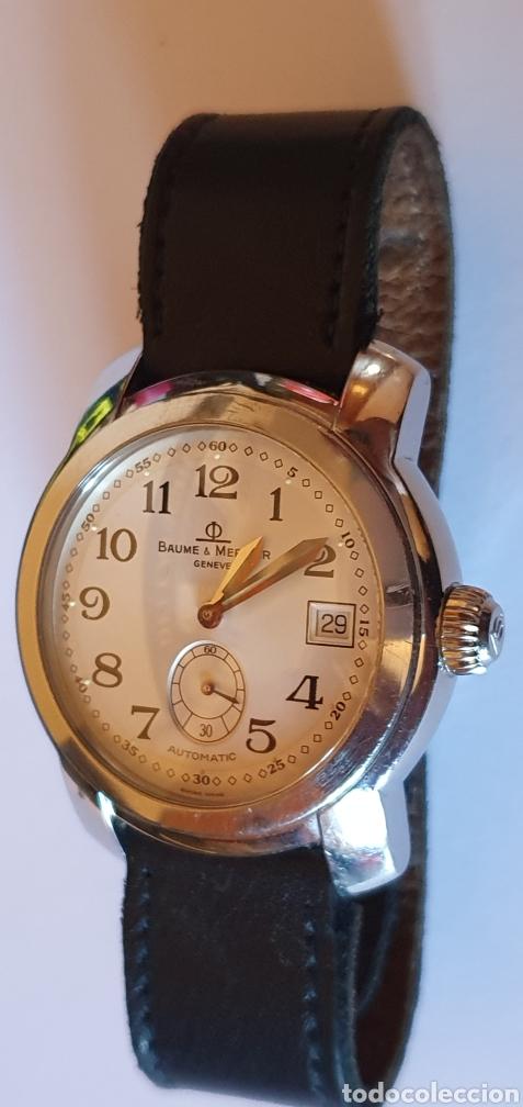 IMPECABLE RELOJ BAUME & MERCIER GENEVE SUTOMATICO FUNCIONA BIEN.MIDE 40 MM DIAMETRO (Relojes - Relojes Actuales - Baume & Mercier)
