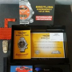 Relojes- Breitling: RELOJ BREITLING PROFESSIONAL EMERGENCY II TITANIUM + CAJA CON ACCESORIOS + DOCUMENTACION + 2 CORREAS. Lote 52394015
