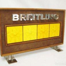 Relojes- Breitling: GENIAL EXPOSITOR CARTEL ORIGINAL RELOJ BREITLING IDEAL DECORACION AVIACION TIENDAS RELOJERIAS. Lote 85347344