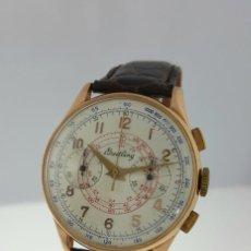 Relojes- Breitling: BREITLING CRONOGRAFO ORO 18K VINTAGE C.1.938-COMO NUEVO.. Lote 97969087