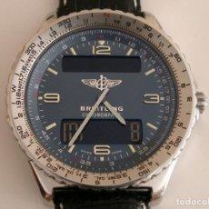 Relojes- Breitling: BREITLING CHRONOSPACE ANALOGICO Y DIGITAL AÑOS 90´S, GRANDE 42MM. Lote 107635507