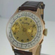 Relojes- Breitling: BREITLING CRONOGRAFO ORO 18K VINTAGE C.1.938-40 COMO NUEVO.. Lote 108344603