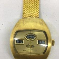 Relojes- Breitling: RELOJ DE PULSERA PARA HOMBRE SICURA BREITLING DIGITAL GOLD DE HORAS SALTANTES, CON DIECISIETE RUBÍES. Lote 112509431
