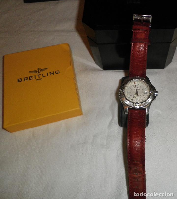 Relojes- Breitling: reloj breitling colt cronometre-estuche de baquelita-caja original y bolsa oficial de la tienda - Foto 2 - 127679571