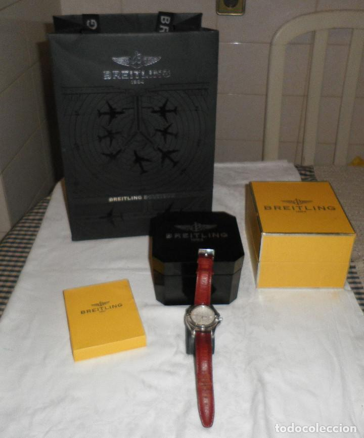 Relojes- Breitling: reloj breitling colt cronometre-estuche de baquelita-caja original y bolsa oficial de la tienda - Foto 3 - 127679571