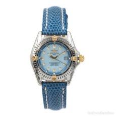 Relojes- Breitling: BREITLING CERTIFIE ORO Y ACERO CON ESTUCHE OFICIAL PARA MUJER CORREA DE PIEL. Lote 139623142