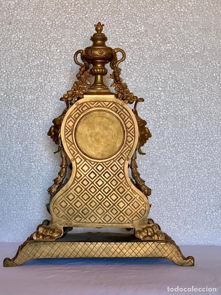 Relojes- Breitling: CONJUNTO DE RELOJ Y CANDELABROS DE BRONCE - Foto 5 - 153277770