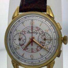 Relojes- Breitling: BREITLING PLAQUE ORO 18KT CHRONOGRAFO C.1.940. Lote 155033830