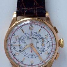Relojes- Breitling: BREITLING ORO 18KT CHRONOGRAFO C.1.945 ¡¡COMO NUEVO!!. Lote 169239434