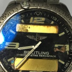 Montres- Breitling: RELOJ BREITLING AEROSPACE TITANIO VINTAGE PARA PIEZAS O ARREGLAR. Lote 171516244