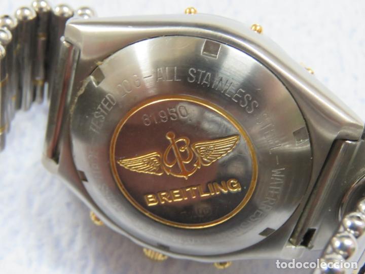 Relojes- Breitling: FANTASTICO BREITLING CHRONOMAT UTC DOBLE HORARIO, AUTOMATICO, EN ACERO Y ORO, FUNCIONA PERFECTO - Foto 11 - 172849383