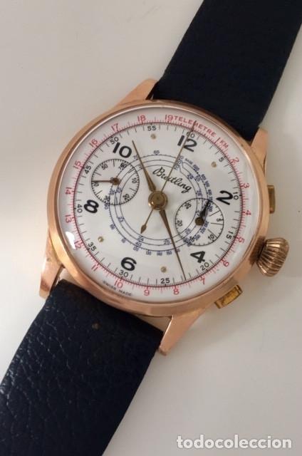 Relojes- Breitling: BREITLING CRONO ORO 18KT.COMO NUEVO. - Foto 2 - 173430098