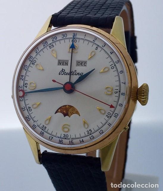 BREITLING TRIPLE DATE FASE DE LUNA VINTAGE. (Relojes - Relojes Actuales - Breitling)