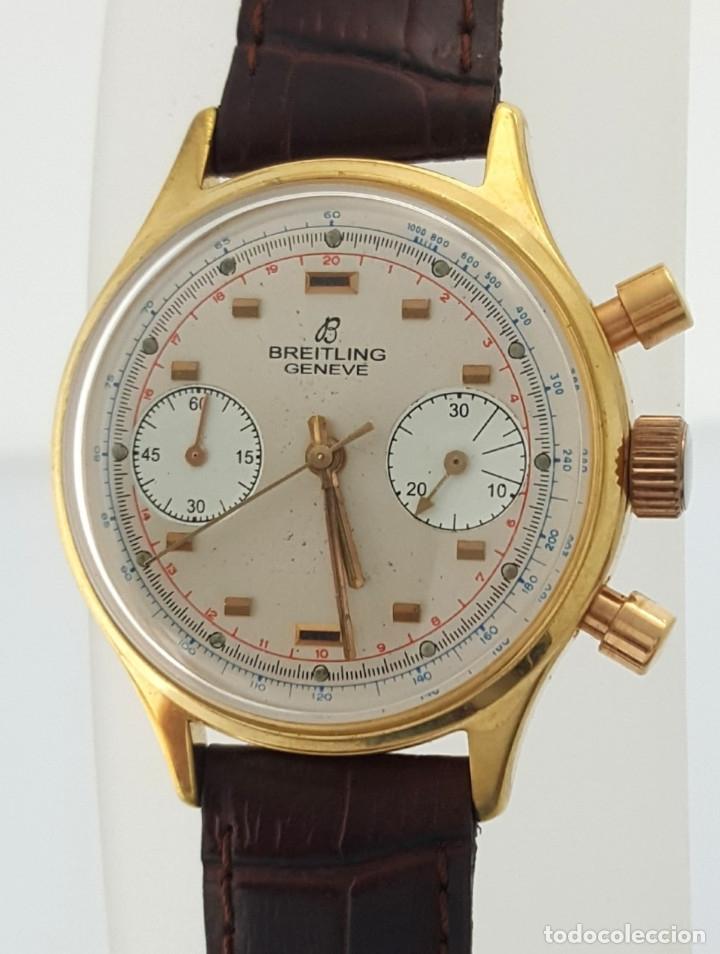 BRETILING CRONOGRAFO PLACADO ORO 18KT VINTAGE 1.945 (Relojes - Relojes Actuales - Breitling)